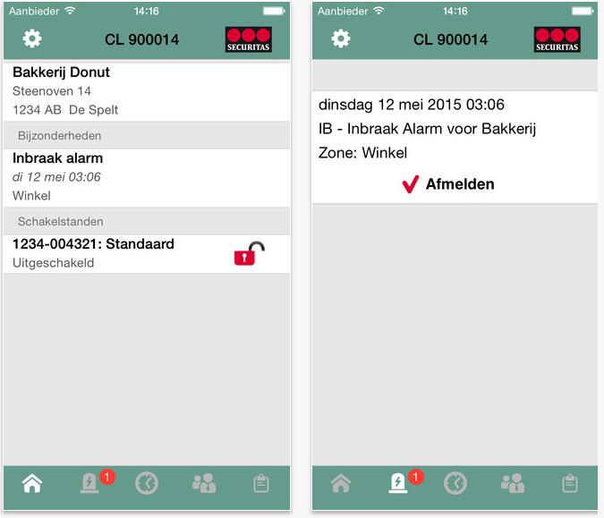 Alarmsysteem met App